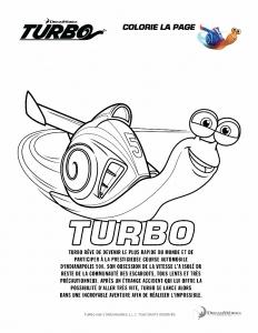 Coloriage de Turbo pour enfants