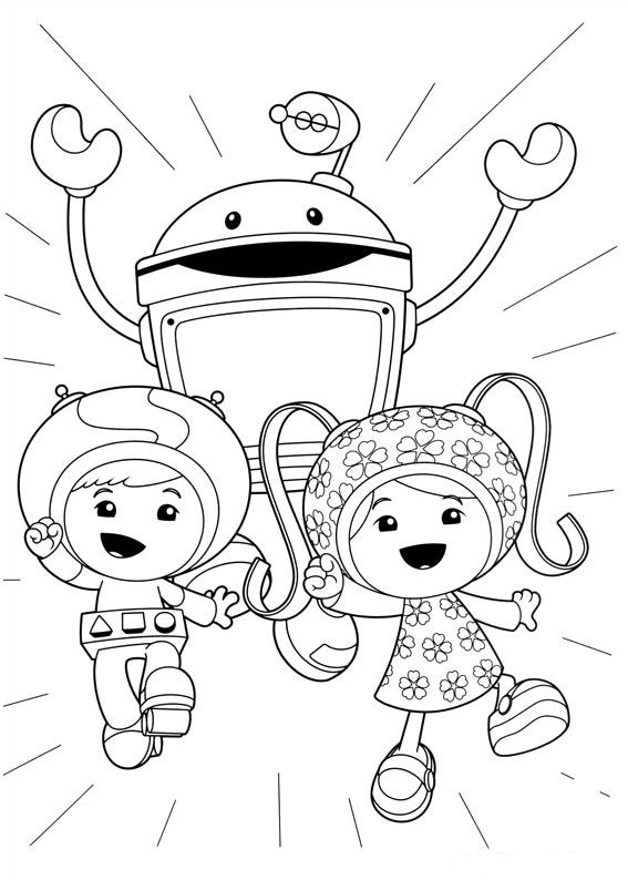 Préparez vos crayons et feutres pour colorier ce coloriage de Umizoomi