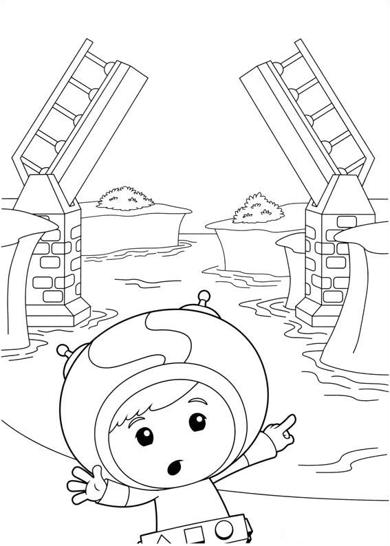 Dessin de Umizoomi à colorier, facile pour enfants