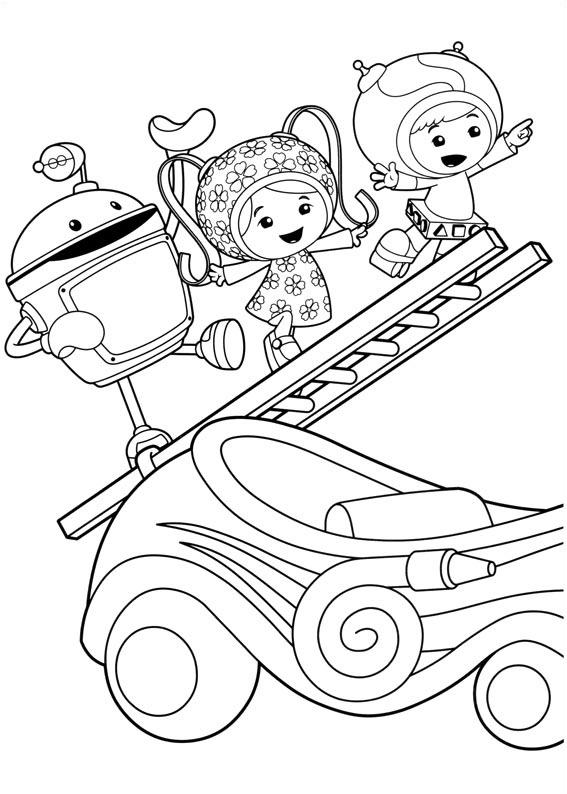 Simple coloriage de Umizoomi pour enfants