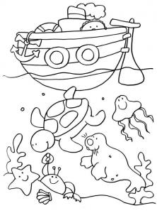 Coloriage de vacances à la mer gratuit à colorier