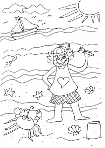 coloriage vacance mer