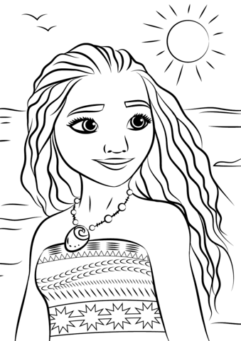 Vaiana portrait disney archives coloriages pour enfants - Coloriage de vaiana ...