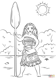 coloriage-vaiana-a-imprimer free to print