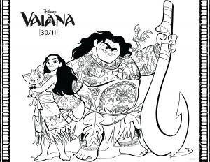 Dessin de Vaiana (Disney / Pixar) gratuit à télécharger et colorier