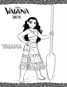 Image de Vaiana (Disney / Pixar) à imprimer et colorier