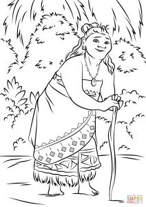 Coloriage de Vaiana à telecharger gratuitement