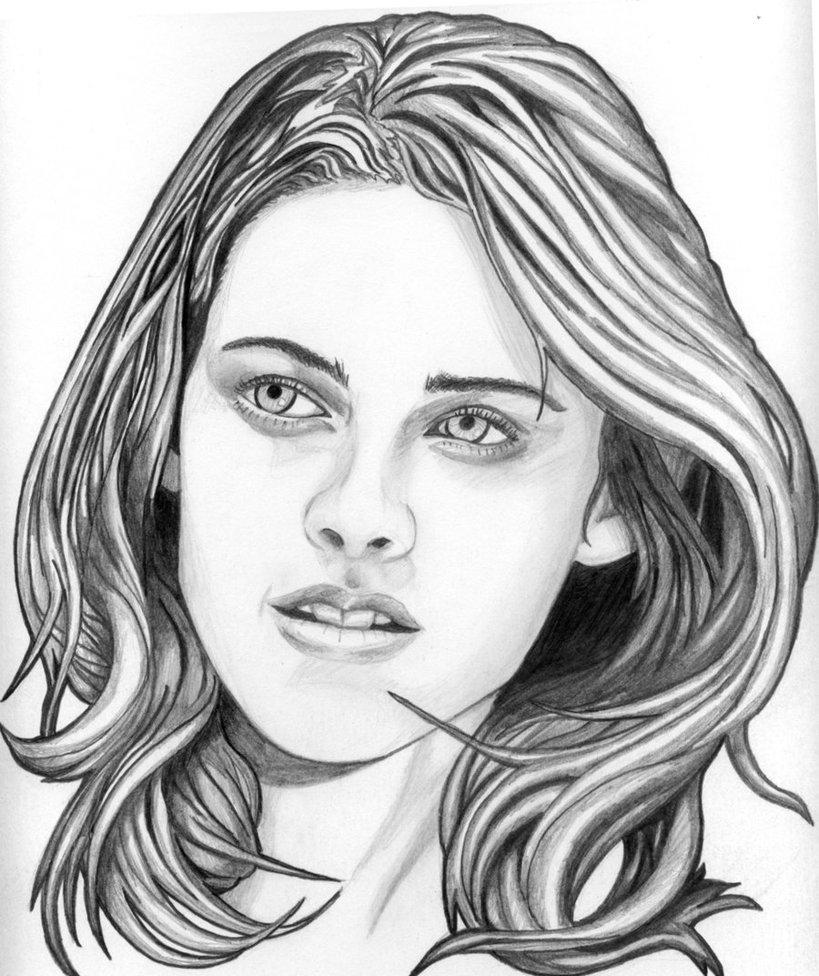 Coloriage d'Edward Cullen (Robert Pattinson) de Twilight