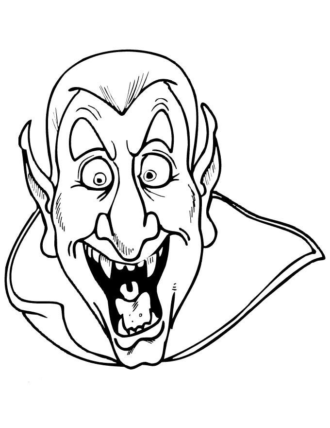 Un vampire hilare à imprimer et colorier !