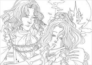 Image de vampires à imprimer et colorier