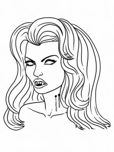 Coloriages de vampires twilight dracula - Vampire diaries dessin ...