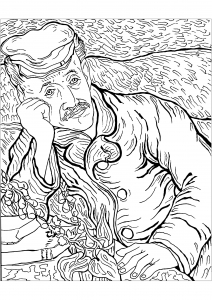 Coloriage de Van Gogh à telecharger gratuitement