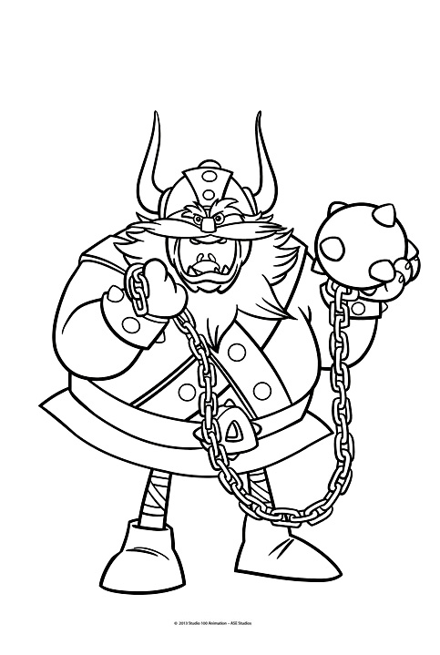 Vic le viking 1 coloriage vic le viking coloriages - Dessin de viking ...