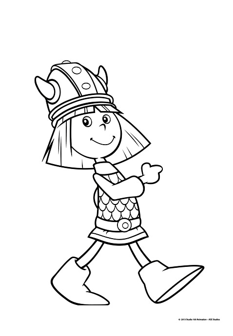 Vic le viking 4 coloriage vic le viking coloriages - Dessin de viking ...
