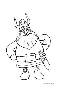 Coloriage de Vic le viking pour enfants