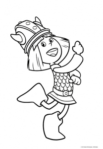 Coloriage vic le viking coloriages pour enfants - Dessin de viking ...