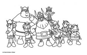 Coloriage de Vic le viking à colorier pour enfants