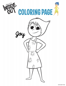 Coloriage vice versa joie