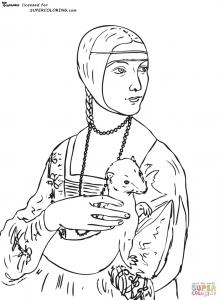 Image de Léonard de Vinci à imprimer et colorier