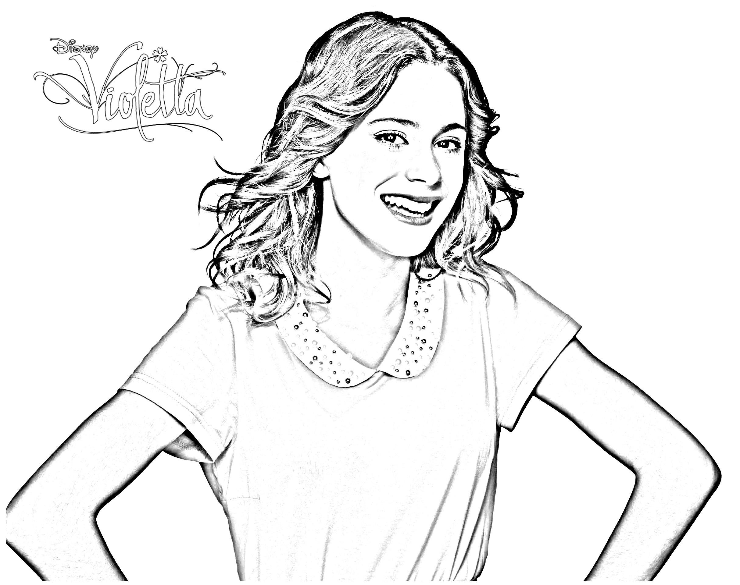 Simple coloriage de Violetta Martina Stoessel
