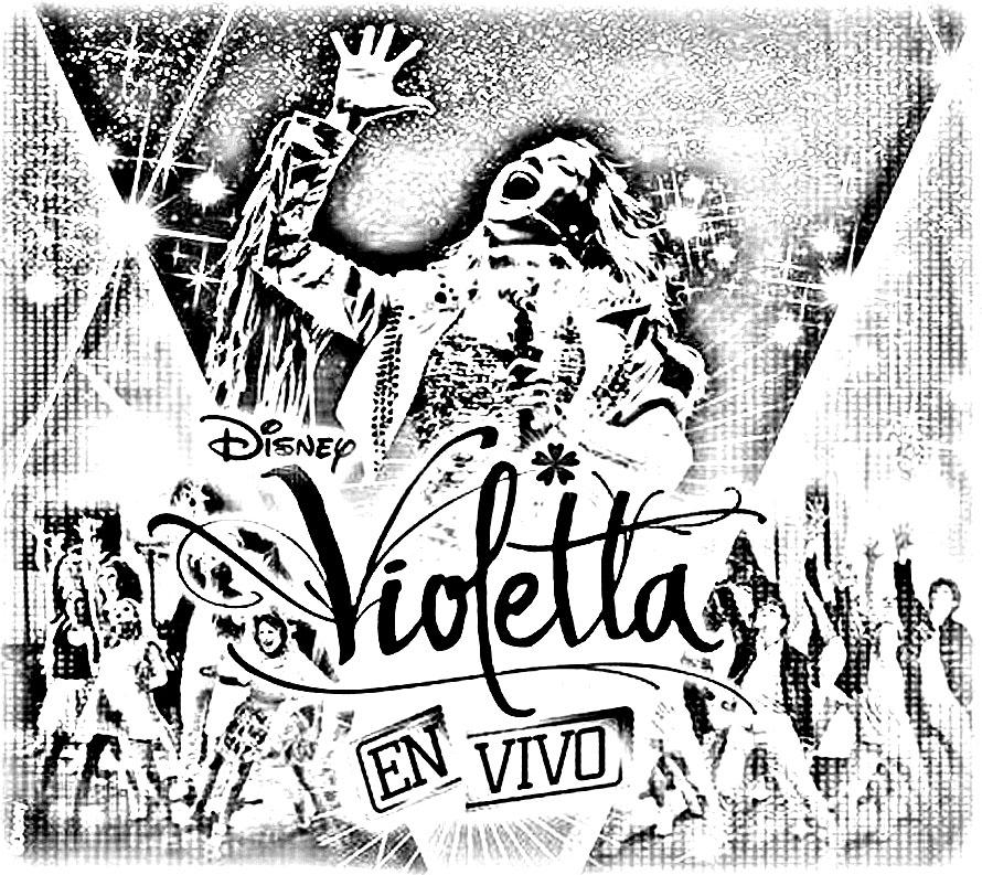 Violetta affiche live coloriage violetta coloriages pour enfants page 3 - Dessin a imprimer violetta ...