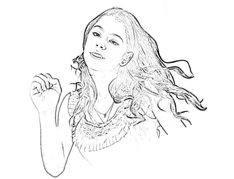 Violetta cheveux - Coloriage Violetta - Coloriages pour enfants