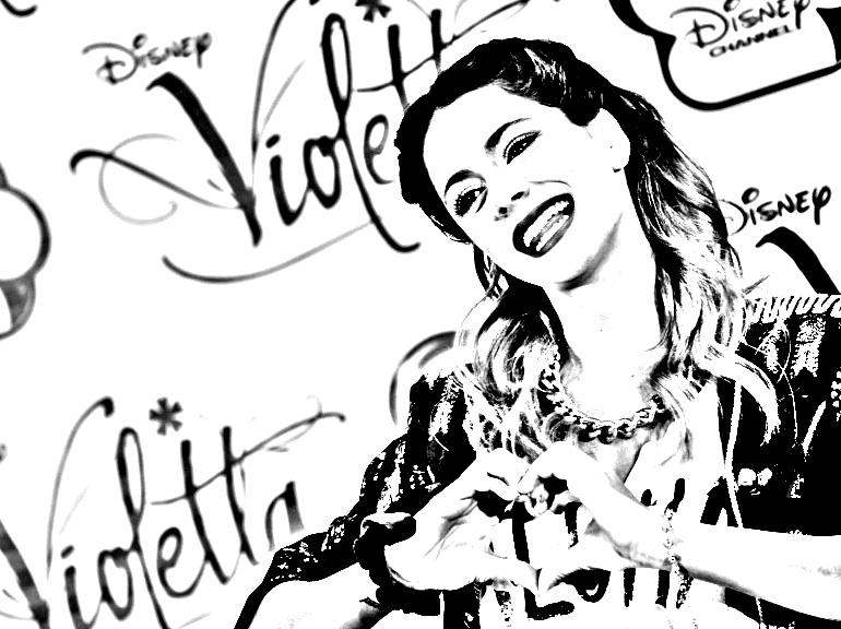 Violetta Martina Stoessel Coloriage Violetta Coloriages Pour Enfants