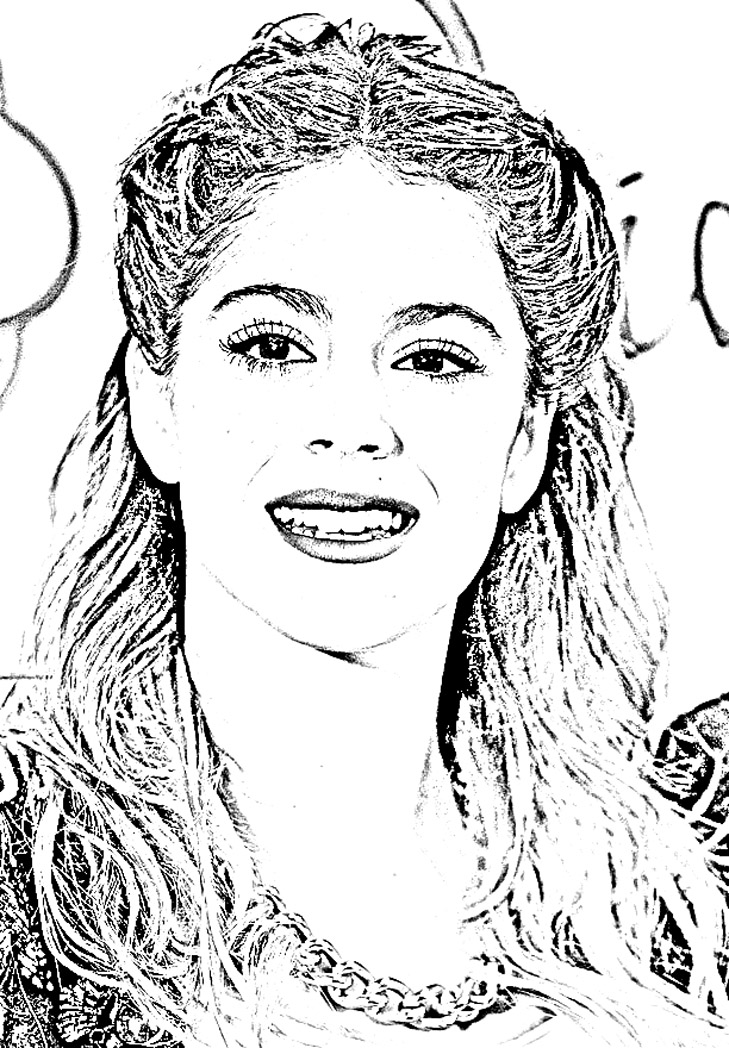 Fabuleux Violetta sourire | Coloriage Violetta - Coloriages pour enfants VO62