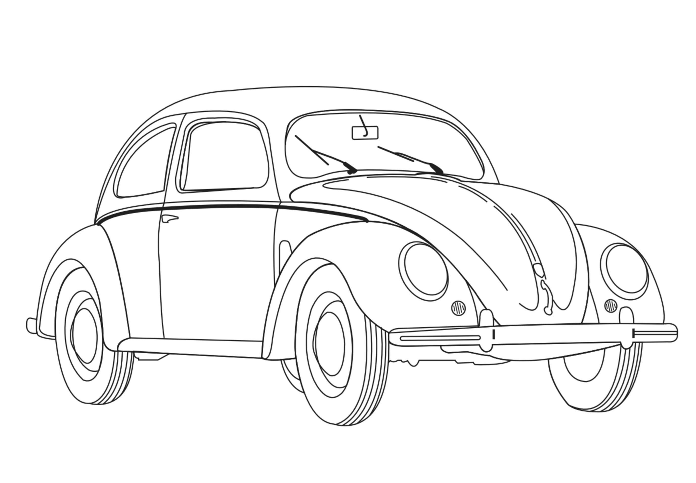 Coccinelle volkswagen coloriage de voitures coloriages - Dessin coccinelle voiture ...