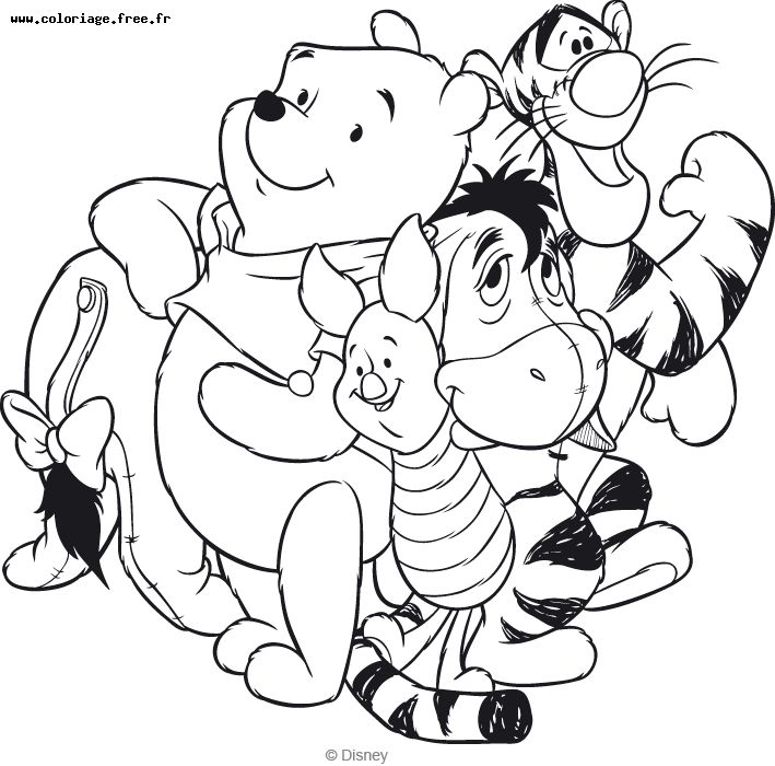 coloriage winnie 1 free to print