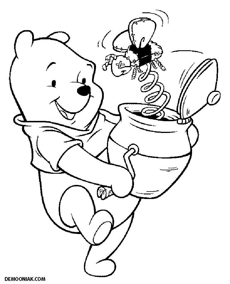 Winnie 3 Coloriage Winnie L Ourson Et Ses Amis