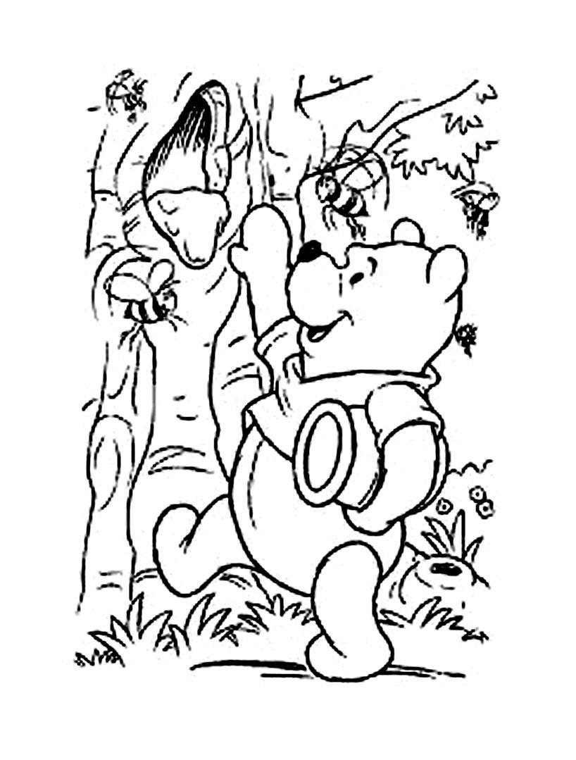 Winnie lourson 11 coloriage winnie l 39 ourson et ses amis coloriages pour enfants - Dessin ourson a imprimer ...