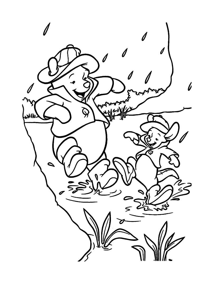Coloriage gratuit Winnie