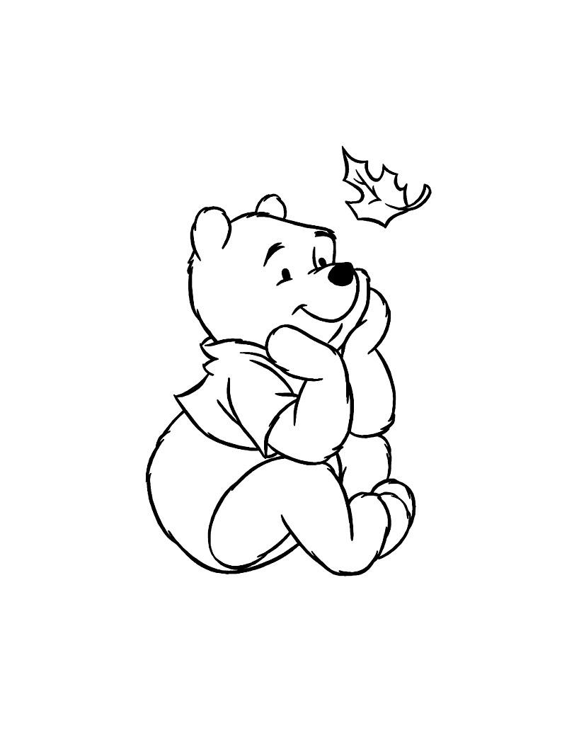 Winnie lourson 6 coloriage winnie l 39 ourson et ses amis coloriages pour enfants - Dessin ourson a imprimer ...