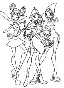 coloriage-winx-2 free to print