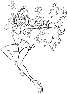 coloriage-winx-4 free to print