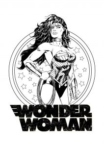 Wonder woman prête au combat