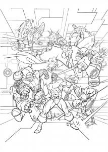 Coloriage de X Men à colorier pour enfants