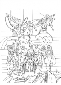 Coloriage de X Men à télécharger