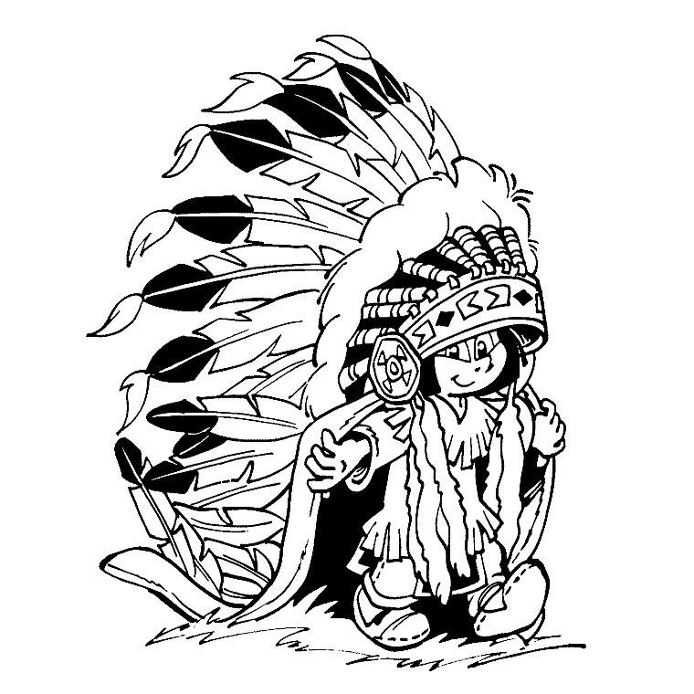 Yakari 3 coloriage de yakari le petit indien - Indien coloriage ...