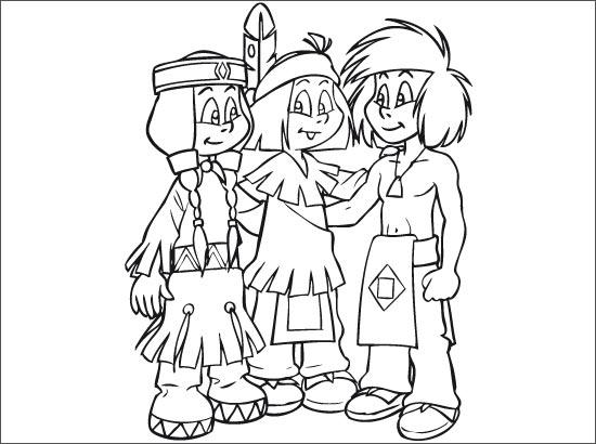 Yakari 8 coloriage de yakari le petit indien coloriages pour enfants - Coloriage petit indien imprimer ...