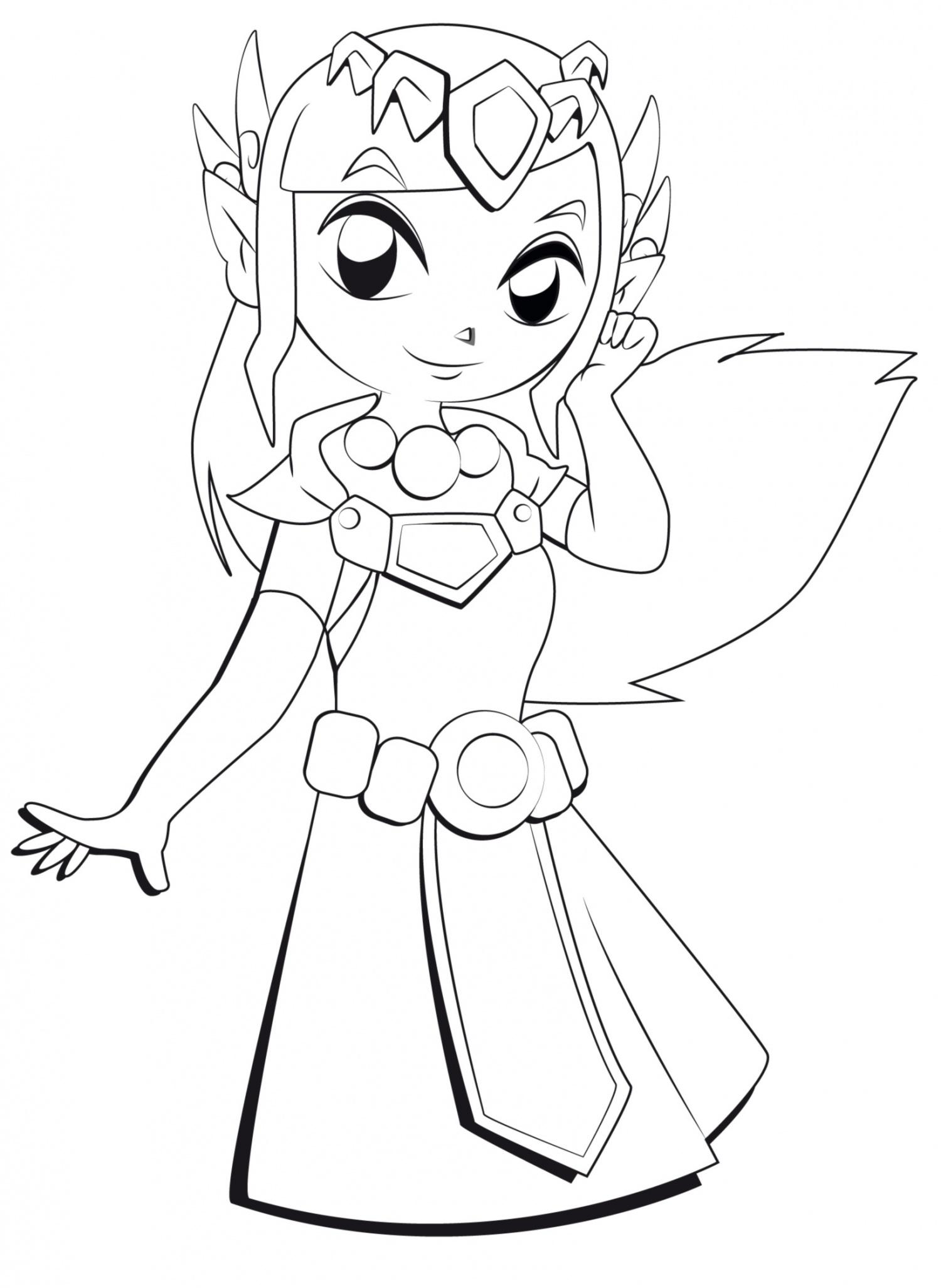 Zelda 2 coloriage zelda coloriages pour enfants - Princesse dessin ...