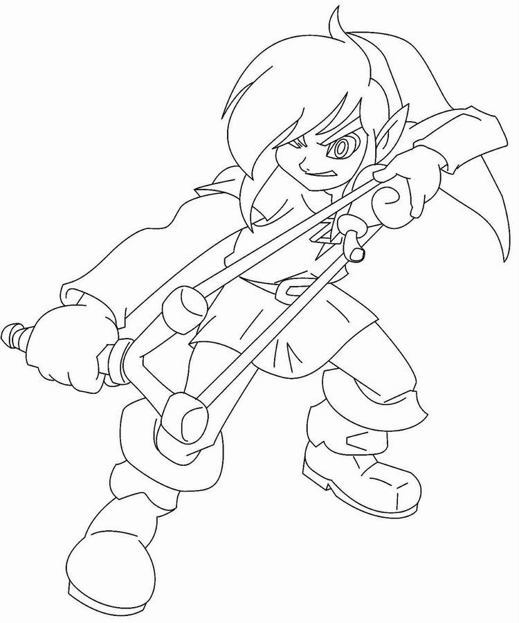 Coloriage de Zelda à imprimer pour enfants - Coloriage ...