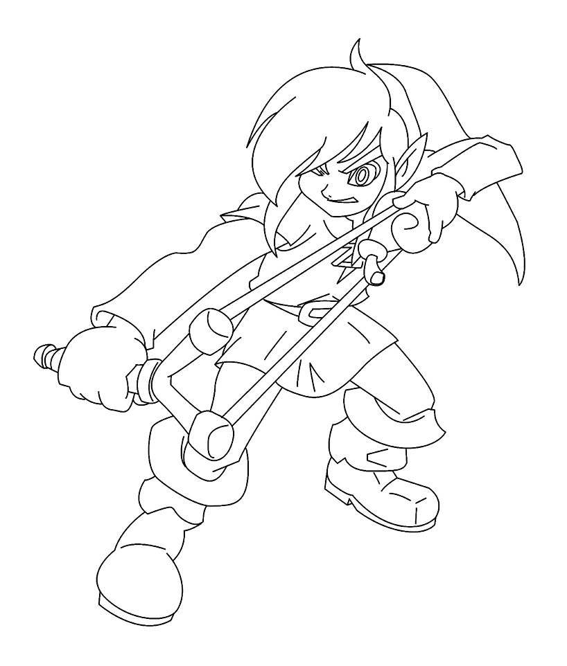Zelda nintendo 11 coloriage zelda coloriages pour enfants - Jeux de lance pierre ...