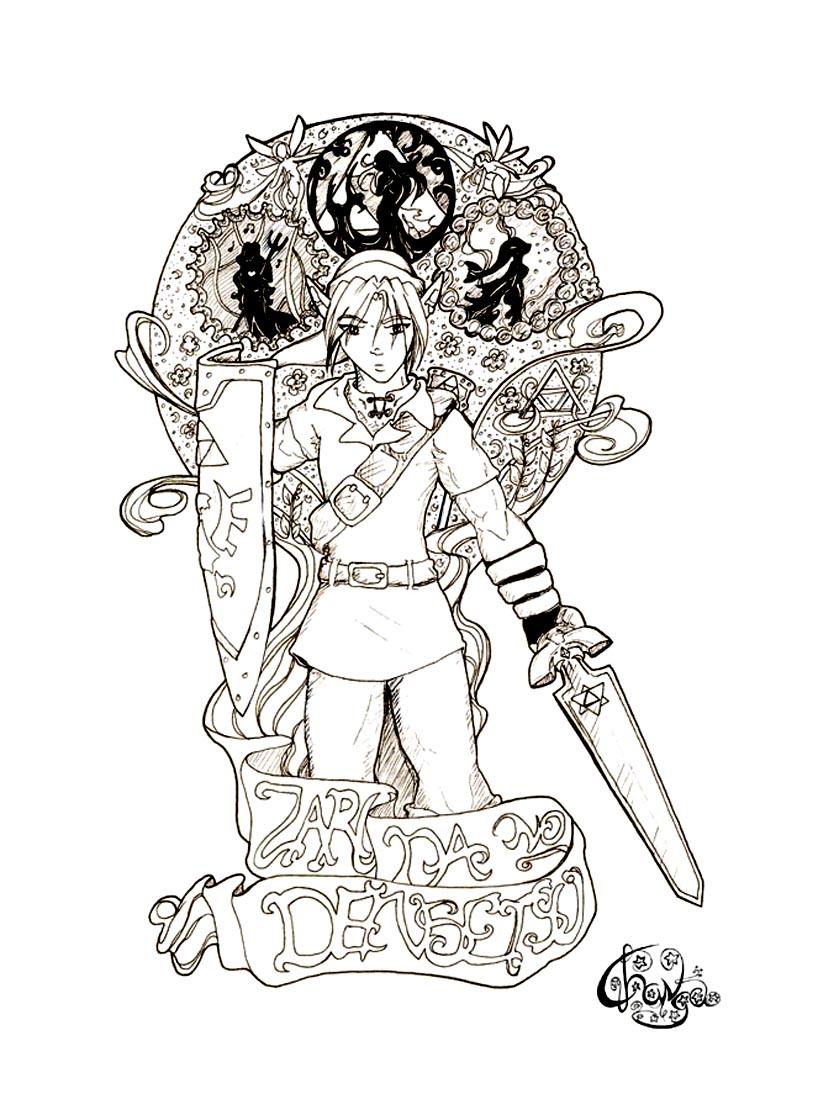 Coloriage De Zelda Et Link A Imprimer Coloriage Dessin Zelda 42