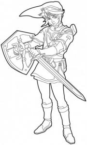 Coloriage de Zelda à télécharger