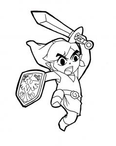 Coloriage de Zelda à colorier pour enfants