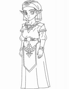 Coloriage de Zelda gratuit à colorier
