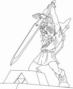 Coloriage de Zelda à imprimer