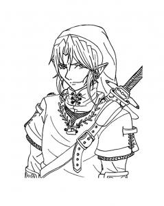 Coloriage de Zelda à imprimer gratuitement